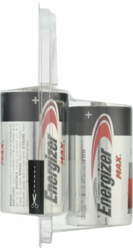 Energizer® Max® D Alkaline Batteries Perspective: left