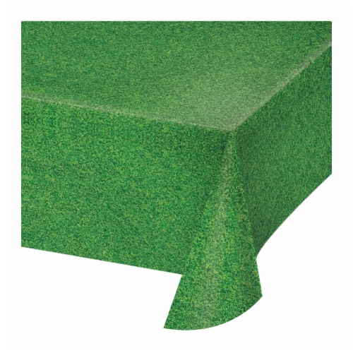 Creative Converting All Over Print Plastic Table Cover - Green Perspective: left