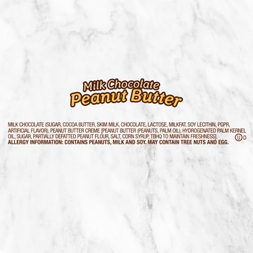 DOVE Easter Candy Milk Chocolate Peanut Butter Egg-Shaped Candy Bag Perspective: left