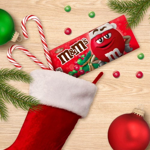 M&M'S Holiday Milk Chocolate Christmas Candy Gift Boxes Perspective: left