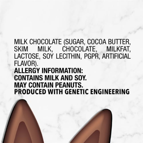 DOVE Milk Chocolate Bunny Ears Easter Candy Perspective: left
