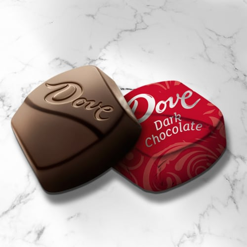 DOVE PROMISES Dark Chocolate Candy Bag Perspective: left