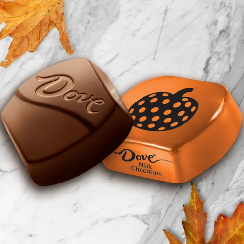 Dove® Milk Chocolate Pumpkins Halloween Candy Perspective: left