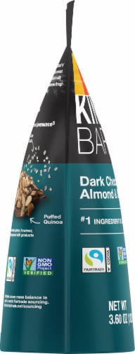 KIND Dark Chocolate Almond & Sea Salt Bark Perspective: left