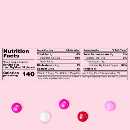 M&M'S Milk Chocolate Valentines Day Cupid's Mix Valentine Candy Bag Perspective: left