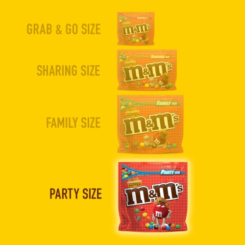 M&M'S Peanut Butter Chocolate Candy Perspective: left