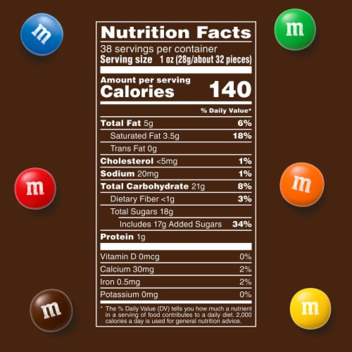 M&M'S Milk Chocolate Candy, 38-Ounce Party Size Bag Perspective: left