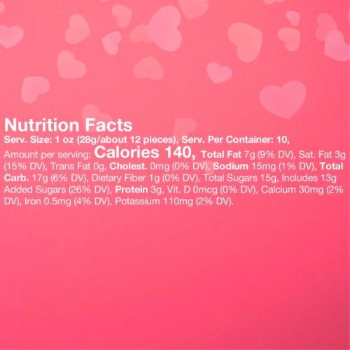 M&M'S Milk Chocolate Peanut Valentine Candy Bag Perspective: left