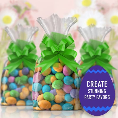 M&M'S Almond Chocolate Egg Shaped Easter Candy Bag Perspective: left