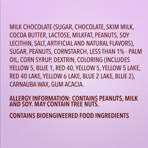 M&M'S Peanut Milk Chocolate Easter Candy Bag Perspective: left