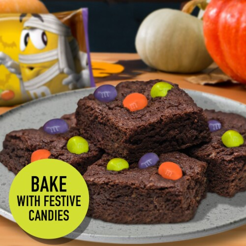M&M's Ghoul's Mix Milk Chocolate Halloween Candy Perspective: left