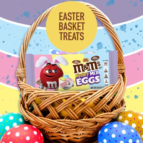 M&M'S Mystery Mix Speckled Eggs Chocolate Easter Candy Bag Perspective: left