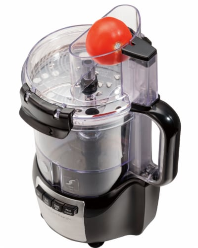 Hamilton Beach Stack and Snap™ Food Processor - Black Perspective: left