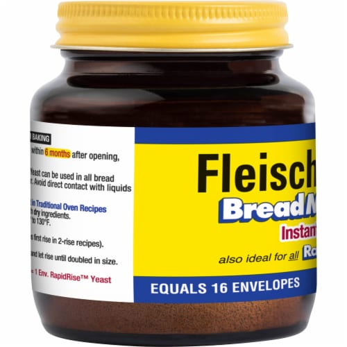 Fleischmann's Bread Machine Instant Yeast Perspective: left