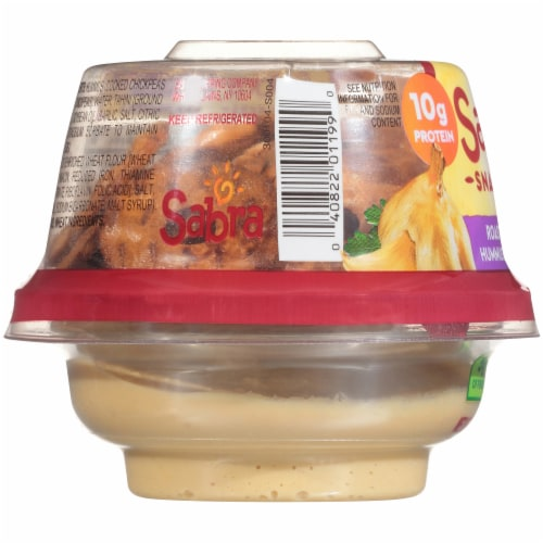 Sabra Snackers Roasted Garlic Hummus & Pretzels Perspective: left