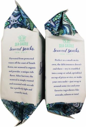 Sea Castle Organic Roasted Seaweed Snacks with Sea Salt Perspective: left