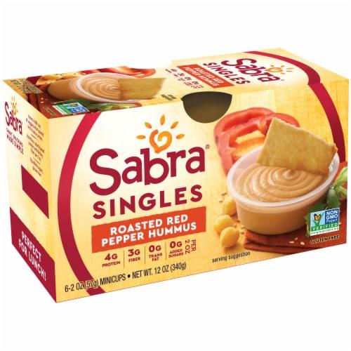 Sabra Singles Roasted Red Pepper Hummus Multi-Pack Perspective: left