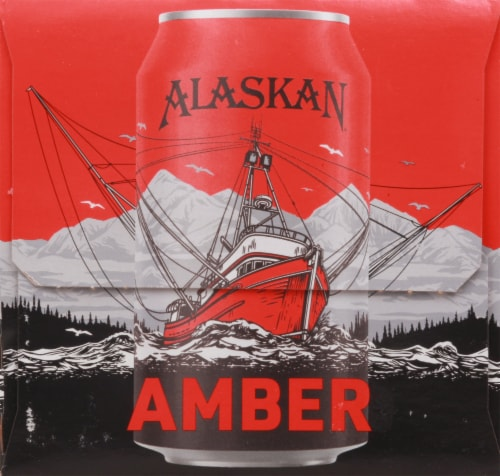 Alaskan Brewing Co. Amber Alt Style Ale Perspective: left