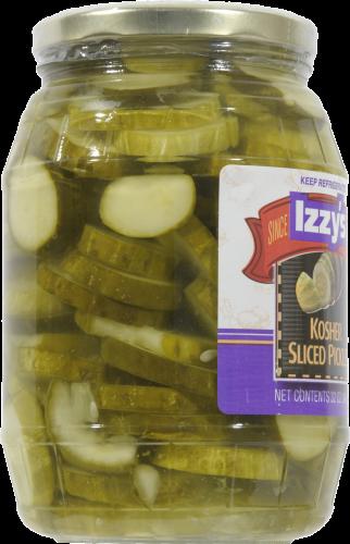 Izzy's Kosher Sliced Pickles Perspective: left
