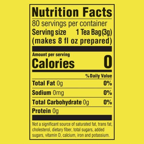 Lipton® Extra Bold Premium Black Tea Bags Perspective: left