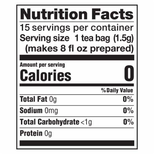 Lipton Terrific Turmeric Caffeine Free Herbal Tea Bags Perspective: left