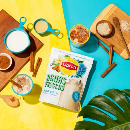 Lipton Aguas Frescas Horchata Sweetened Drink Mix Perspective: left