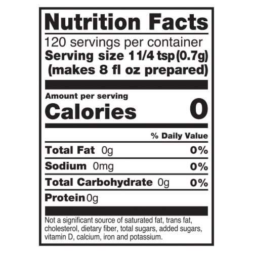 Lipton Unsweetened Iced Tea Mix Perspective: left