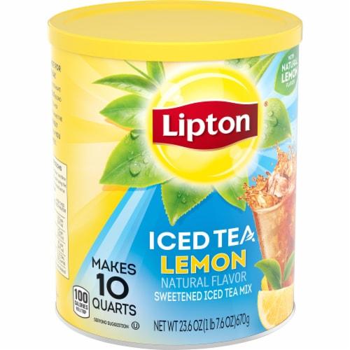Lipton Lemon Sweetened Iced Tea Mix Perspective: left