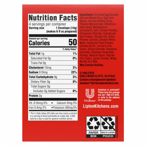 Lipton Cup-A-Soup Chicken Noodle with White Meat Instant Soup Mix Perspective: left