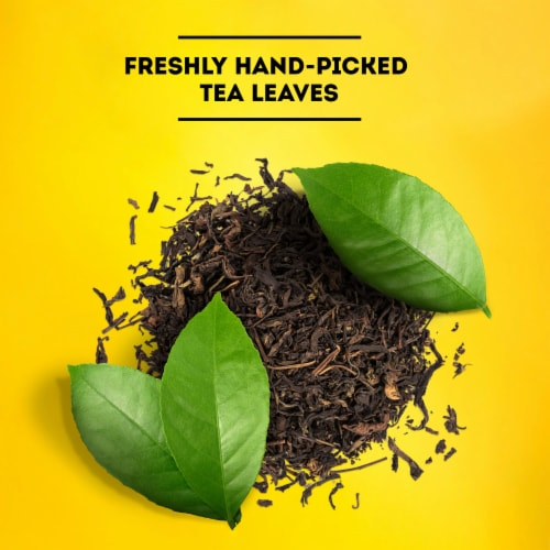 Lipton Iced Black Tea Bags Family Size Perspective: left