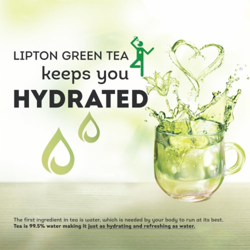 Lipton Peach Paradise Green Tea Bags Perspective: left