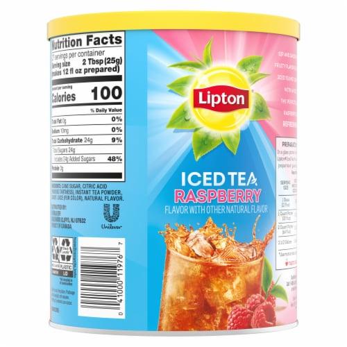 Lipton Raspberry Sweetened Iced Tea Mix Perspective: left