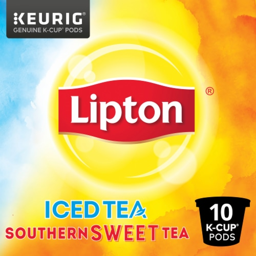Lipton Iced Sweet Tea K-Cup Pods Perspective: left