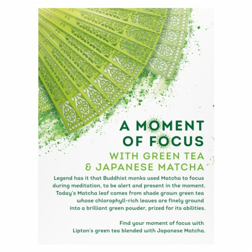 Lipton Magnificent Matcha Green Tea Bags Perspective: left