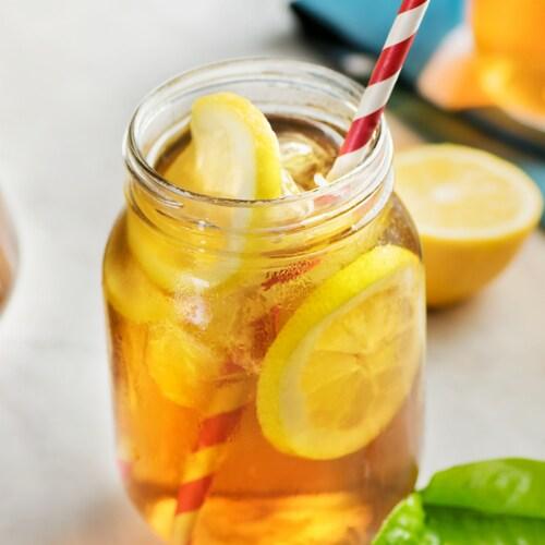Lipton Sweetened Iced Tea with Lemon Mix Perspective: left
