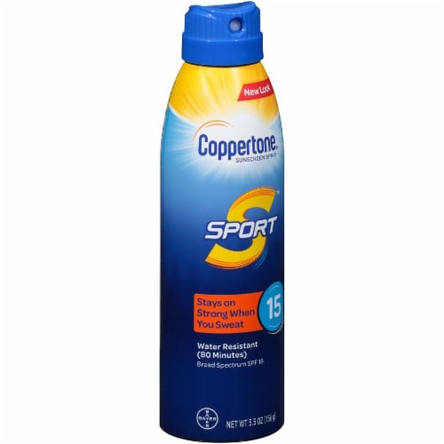 Coppertone Sport Sunscreen Spray SPF 15 Perspective: left