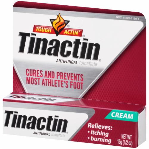 Tinactin Tolnaftate Antifungal Cream Perspective: left