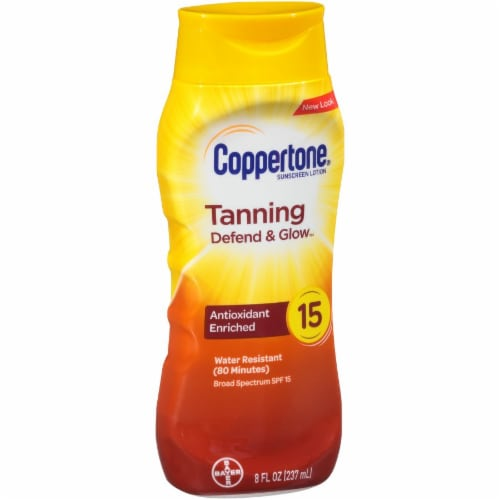 Coppertone Tanning Sunscreen Lotion SPF 15 Perspective: left