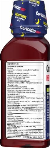 Coricidin® Nighttime Cherry Liquid Cold Medicine Perspective: left