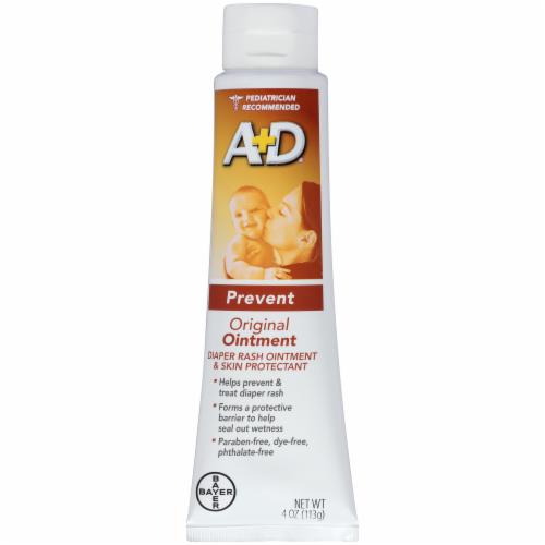 A+D Prevent Original Diaper Rash Ointment & Skin Protectant Perspective: left