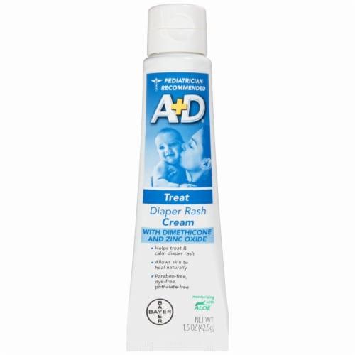A+D Treat Diaper Rash Cream Perspective: left