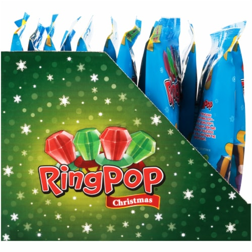 Ring Pop Christmas Candy (4 Pack) Perspective: left