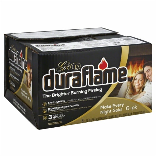 Duraflame Gold Firelogs - 6 Pack Perspective: left