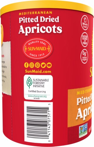 Sun-Maid Mediterranean Pitted Dried Apricots Perspective: left