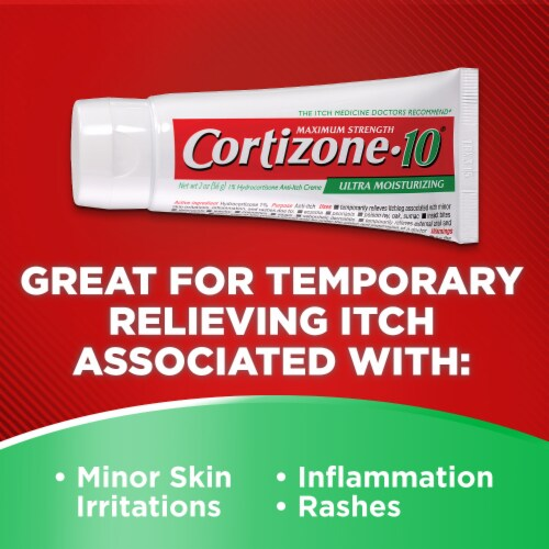 Cortizone 10 Plus Maximum Strength Ultra Moisturizing Creme Perspective: left