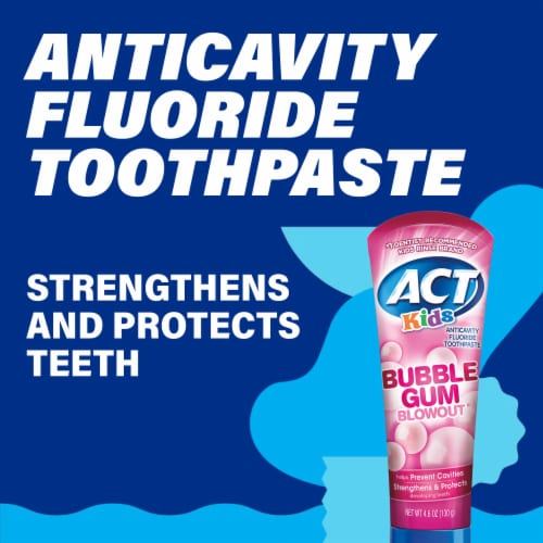 ACT Kids Bubblegum Blowout Fluoride Toothpaste Perspective: left