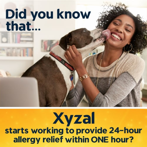 Xyzal Allergy 24 Hour Relief Tablets 10 Count Perspective: left