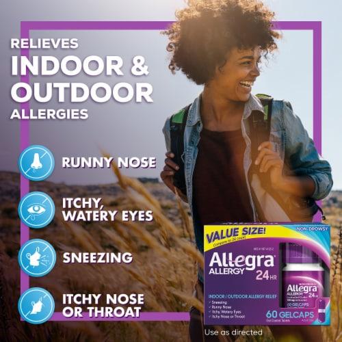 Allegra® 24 Hour Non-Drowsy Indoor/Outdoor Allergy Relief Gelcaps 180 mg Perspective: left