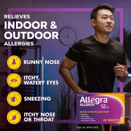 Allegra 12 Hour Non-Drowsy Indoor/Outdoor Allergy Relief Tablets Perspective: left