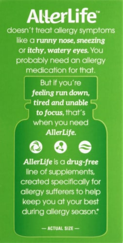 AllerLife Vitality Daily Wellness Allergy Support Capsules 20 Count Perspective: left